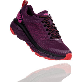 Hoka One One Challenger ATR 5 Running Shoes Dame italian plum/poppy red